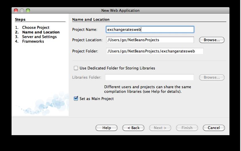 Netbeans - New > Java Web Application